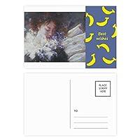 離れてxjj油絵の夢 バナナのポストカードセットサンクスカード郵送側20個