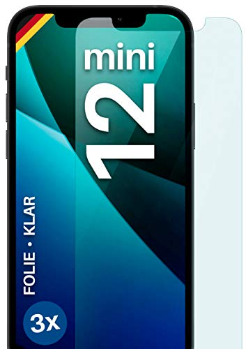 moex Protector de pantalla transparente compatible con iPhone 12 Mini, 3 unidades