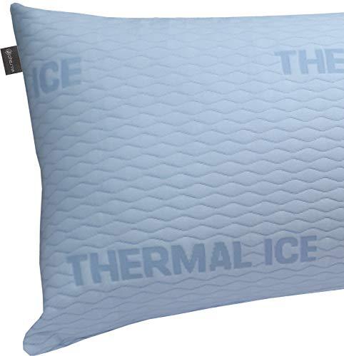 DHestia - Funda de Almohada Refrescante y Anticalor con Cremallera Cara Verano Cara Invierno Cool (135 cm)