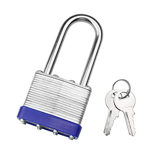 FUEJ Padlocks with Keys Outdoor Weatherproof Heavy Duty Laminated Padlock...