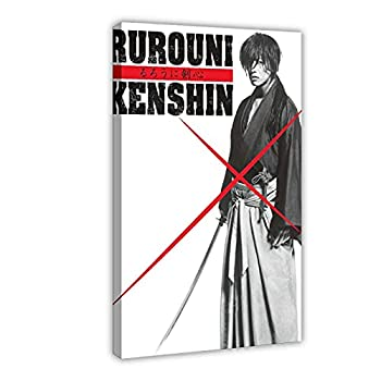 QAZSW Movie Rurouni Kenshin 1 Canvas Poster Wall Art Decor Print Picture Paintings for Living Room Bedroom Decoration DONGDA Poster Frame  24×36inch 60×90cm