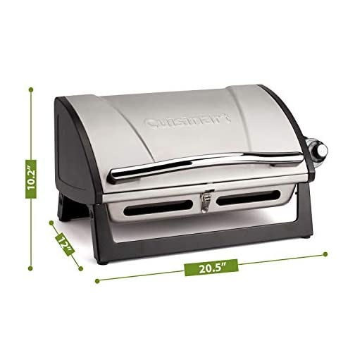 "Cuisinart CGG-240 All Foods, 27.3"" L x 38"" W x 23.5"" H, Roll-Away Gas Grill, Stainless Steel 4"