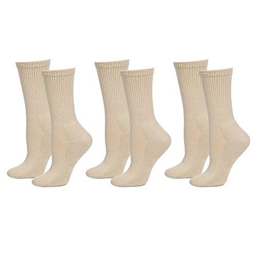 Safersox Mückensocken-Sportsocken Socken - 3er Vorteilspack Beige, 35-38