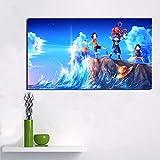 KWzEQ Anime Wallpaper Wallpaper Art Poster and Printmaking Canvas Decoration, Living Room Home Decoration,Pintura sin Marco,40x70cm
