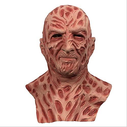 Máscara de vinilo de Halloween Overhead Costome, Fre_ddy Krue_ger para adultos,...