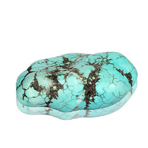 Real Gems 81.00 CT Turquesa Natural en Bruto, Turquesa sin Tratar, Cristal curativo Certificado de Piedras Preciosas de Turquesa Azul