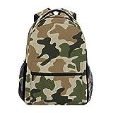 ALARGE Mochila con patrón de camuflaje abstracto para viajes, escuela, colegio, bolsa de hombro, bolsa de hombro, bolsa de camping, senderismo, portátil