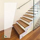 Anti-Rutsch Stufenmatten Transparent Wendeltreppe (100 x 600 x 220 mm - rechts gewendelt)