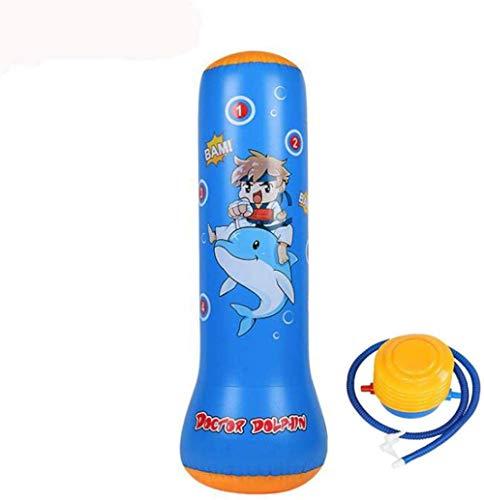 Bolsa de arena inflable de fitness 125 cm de pie libre de boxeo saco de boxeo práctica columnas objetivo durable PVC material relajante kickboxing bolsa adultos niños