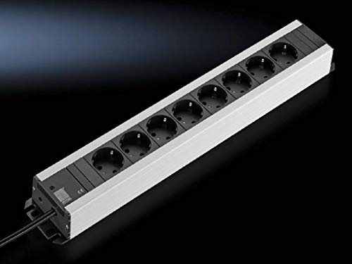 Rittal DK 7000.630 stekkerdoos, binnen, 2 m, 8 uitgangen, AC - stopcontacten (binnen, 2 m, 8 uitgangen, AC, type D, kunststof, 16 A)
