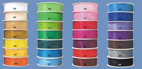 Organzalint 12mm X 32m, (0,072€/m), Dekoband in 28 kleuren, chiffonband, bruiloft 9053 - Fuchsia