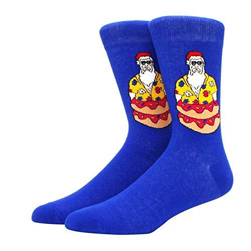 Algodón Happy Men Calcetines Nuevo Otoño Invierno Navidad Mujer Calcetines Divertido Año Nuevo Santa Claus-a21