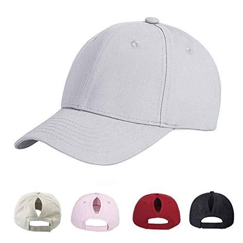 CheChury Gorra de Béisbol Casual Hats Hip-Hop Sombrero para Mujer Tenis Deporte Golf Verano Tejido...