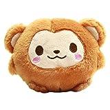 Plush Monkey Doll Kawaii Stuffed Animal Soft Fuzzy Squishy Plushie Brown Keychain 4 Inches