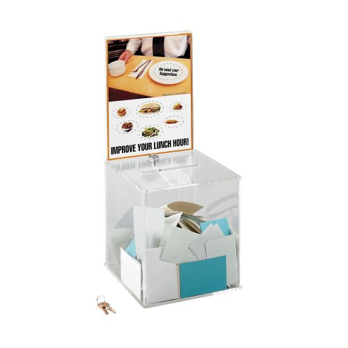 Price comparison product image SAF4234CL - Safco Customizable Locking Acrylic Collection Box