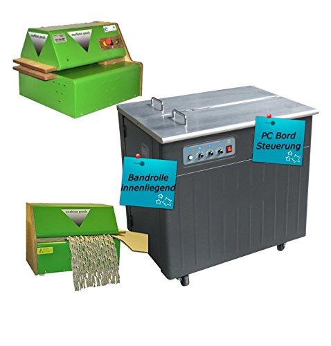 halbautomatische Umreifungsmaschine UPA2 - Bündelmaschine - Verpackungsmaschine - PP Band Umreifung inkl. Kartonschredder Verpackungspolstermaschine