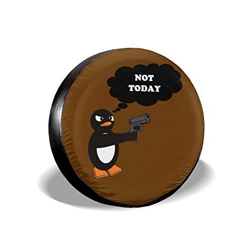 GFHTH Cubierta de llanta de Repuesto a Prueba de Polvo y Resistente al Agua de Estilo Moderno, no Hoy Penguin Universal Cubiertas de Llantas para, remolques, vehículos Todo Terreno, Camiones, y Mucho