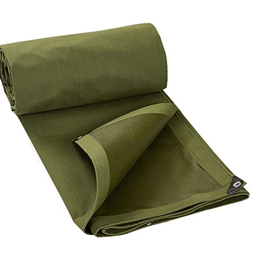 ZAQI Abdeckplane Starke Plane Wasserdichtes Heavy Duty Green Canvas für Home Office Dachbedeckung Landschaftsgestaltung Boote, 0.8mm, 650g (Size : 3M×6M)