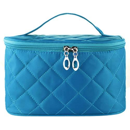 Draagbare toilettas opbergtas grote capaciteit waterdichte toilettas reizen schattige kleine cosmetische tas medium diamant,Blue