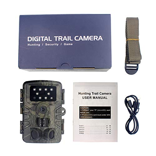 karrychen Hunting Video Camera 2000W 20MP 1080p Trail Farm Home Security 0.3s Trigger Time