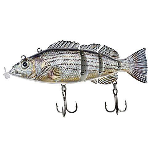 WANGQI Cebo de pesca eléctrico, eléctrico, recargable, USB, con varias articulaciones, para la mayoría de las especies de peces