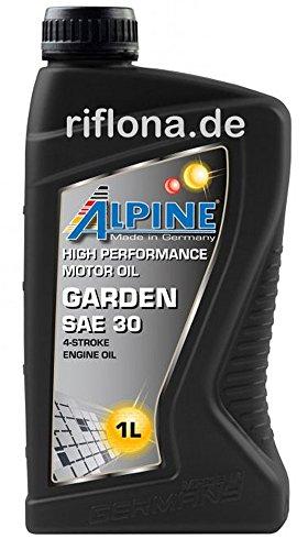 Alpine Garden SAE 30 Rasenmäher Öl 4 Takt ÖL 1 Liter