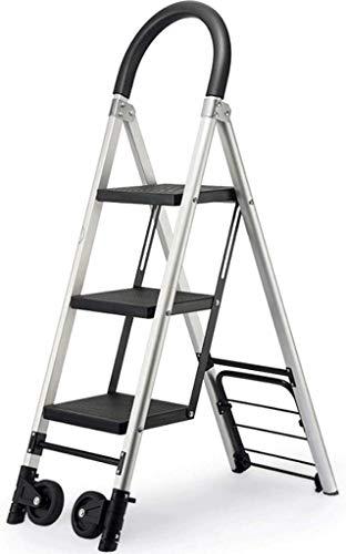 WYKDL Rango de Trabajo escalera con plataforma plegable del hogar taburete de paso ancho pedal robusto Escalera del Mango antideslizante escalera plegable de Hogares de Propósitos Múltiples de la esca
