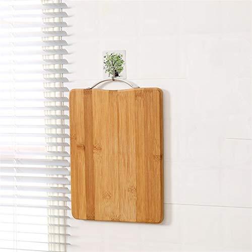 Cocina Nanzhu Tablero de corte de bambú grande rectangular espesado de madera maciza tablero de cuchillo fruta tablillas (Color : 45cm x 33cm x 2cm)