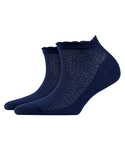 BURLINGTON Damen Sneakersocken Montrose - Baumwollmischung, 1 Paar, Blau (Marine 6120), Größe: 36-41