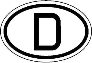 INDIGOS UG - Informatiebord voor motorvoertuigen, internationale kentekenplaat voor Duitsland, D zachte PVC-folie, zelfkle...
