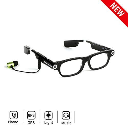 Camara Espia Mini Camara Bluetooth Inalámbrico Gafas De Cámara HD 1080P Deportes Dv Gafas De Sol Inteligentes Mini Videocámaras Gafas con Auriculares para Llamadas Y Música
