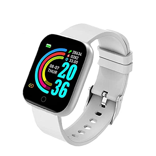 MOSHUO Smart Watch HD Pantalla táctil Fitness Trackers Watch Y68 Sports Banda Impermeable con detección de frecuencia cardíaca de presión Arterial Negro
