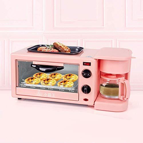 41w3+P6htML - Qinmo E-Ofen, Multifunktions-Frühstück Maschine, Non-Stick Bratpfanne Sandwich Hot Dog Toast Pizza Spiegelei Home Küche Elektro-Ofen (Farbe: Schwarz) (Farbe: Schwarz) (Größe: Pink), Größe: Rosa