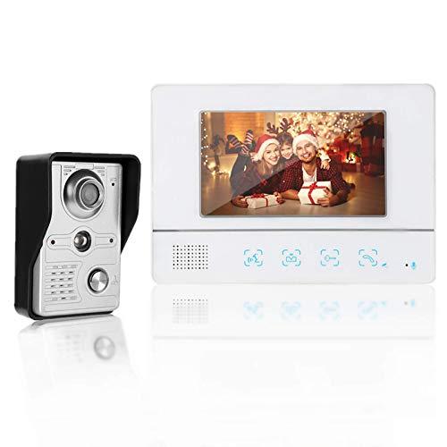 Kit Videocitofono, Campanello Video, Touchscreen TFT per Videocitofono da 7 Pollici con Visione Notturna per la sicurezza domestica, appartamento, hotel(io)