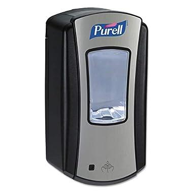 PURELL LTX-12 Touch-Free Hand Sanitizer Dispenser, Chrome/Black Finish, Dispenser for PURELL LTX-12 1200 mL Hand Sanitizer Refills - 1928-04