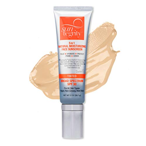 Suntegrity 5 in 1 Natural Moisturizing Face Sunscreen, Broad Spectrum Spf 30 - Tinted - LIGHT