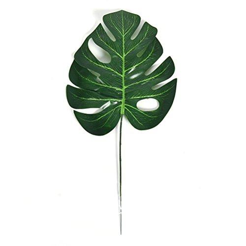 10 x Tropische Blätter/künstliche Palmblätter von Winomo für Hawaii-Partys, Dekoration für zu Hause, den Gartentisch etc.