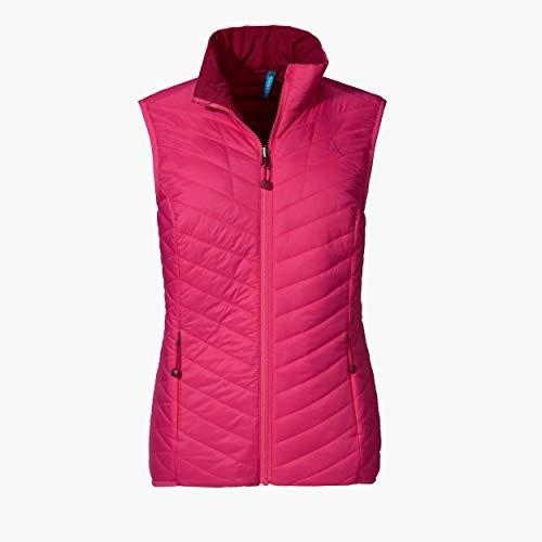 Schöffel Damen Ventloft Vest Alyeska2 wendbare Steppweste mit flexibler ZipIn Funktion, leichte und wasserabweisende Outdoor Weste, pink yarrow, 44