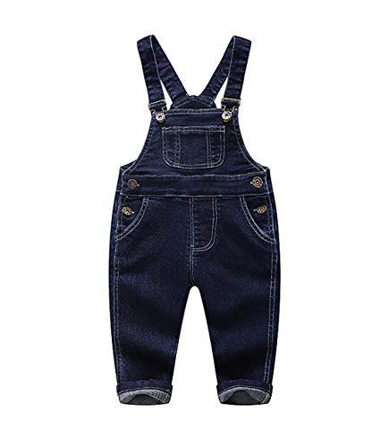Kidscool Baby & Little Boy/Girls Niebieskie i czarne dżinsowe kombinezony