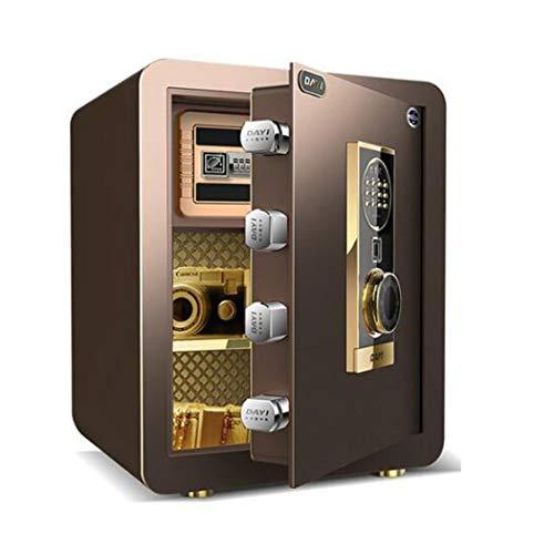 Thuis Keypad Veilig, Protect geld, sieraden, paspoorten Beveiliging Safe Lock Box met vingerafdruk, Office/Home Kluis,Brown