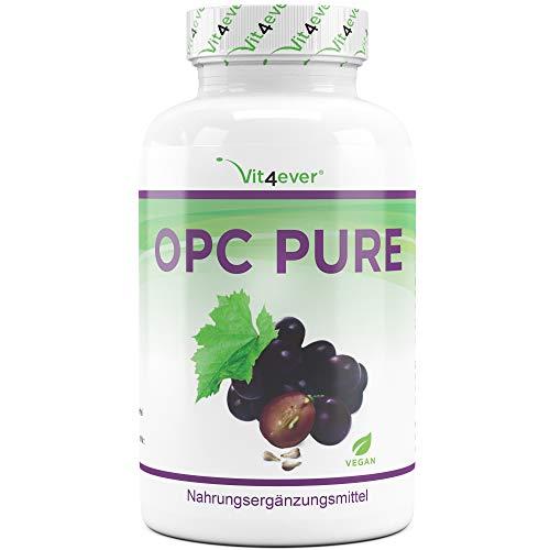 OPC Traubenkernextrakt - 300 Kapseln - 900 mg reines Extrakt je Tagesdosis - Premium OPC aus europäischen Weintrauben - Laborgeprüfter OPC Gehalt - Vegan - Hochdosiert