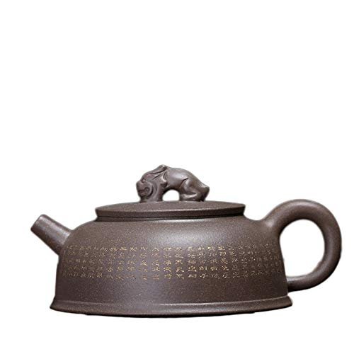 Teapot Tianlu Yixing Teapot Tea Pot Segment Mud Handmade Portable Tea Maker Sand Pot Classic Tea Set (Color : Gray)