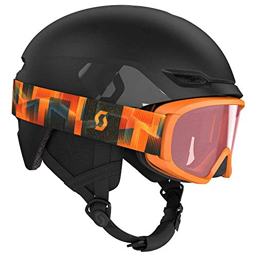 Scott Junior Keeper 2 Helmet + Witty Google Combo Schwarz, Kinder Skibrille, Größe M - Farbe Black
