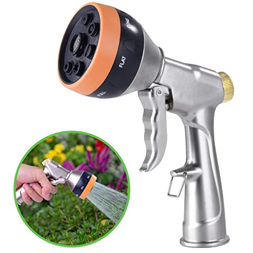 G-HOSE Hose Nozzle Garden Hose Spray Nozzle Metal Hose Nozzle Sprayer Heavy Duty High Pressure Water Hose Nozzle Sprayer with Adjustable 7 Patterns for Garden Watering,Car Washing and Pet Showering