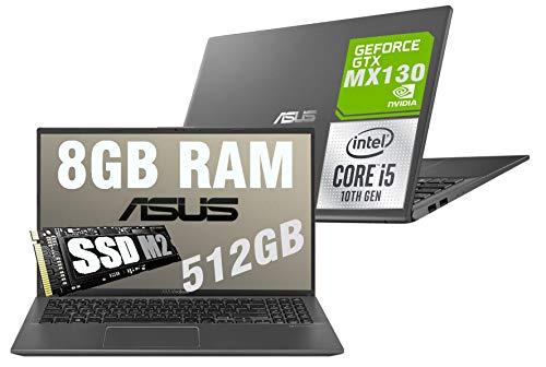 Notebook Asus Vivobook Slim I5 Display Led Full HD 15.6  Cpu Intel quad core i5-1035G1 10th gen 3,6Ghz  Ram 8Gb DDR4  SSD M2 512GB  VGA INTEL UHD MX130 2GB  Hdmi  Wifi  Bluetooth  Windows 10 64bit