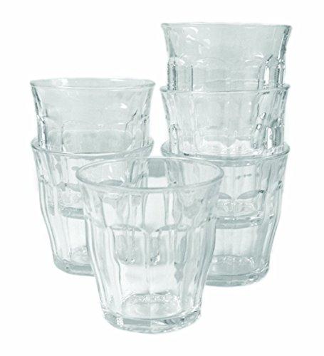Picardie-Tumbler van Duralex, Tumbler-glazen van sterk glas, inhoud 310 ml, 94 mm hoog, 6 stuks
