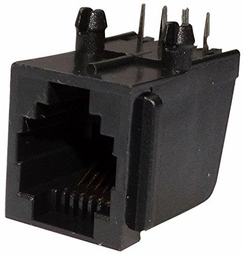 Aerzetix: 5x RJ12-Steckverbinderbuchse 6-polig 6p6c PCB THT