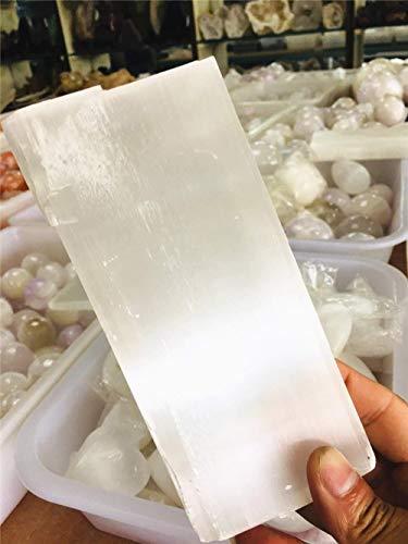 Beverly Oaks Energy Infused Selenite Crystal Slab - Selenite Charging Station For Healing Crystals - Large Selenite Stick