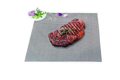 Durandal Grillmatte eckig 36x40 cm | Wiederverwendbare BBQ Grillmatte für Gasgrill & Holzkohlegrills mit Antihaftbeschichtung | Must Have Grill Zubehör
