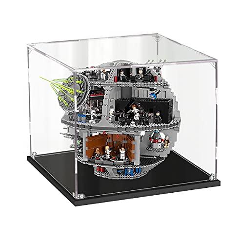 Hosdiy Acryl Vitrine Schaukasten Kompatible mit Lego Star Wars Todesstern 75159 Death Star - Vitrine (Nur Vitrine, Ohne Lego Set)